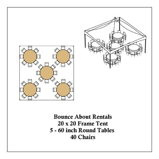 Macomb Tent Rental 20x20 Frame Tent