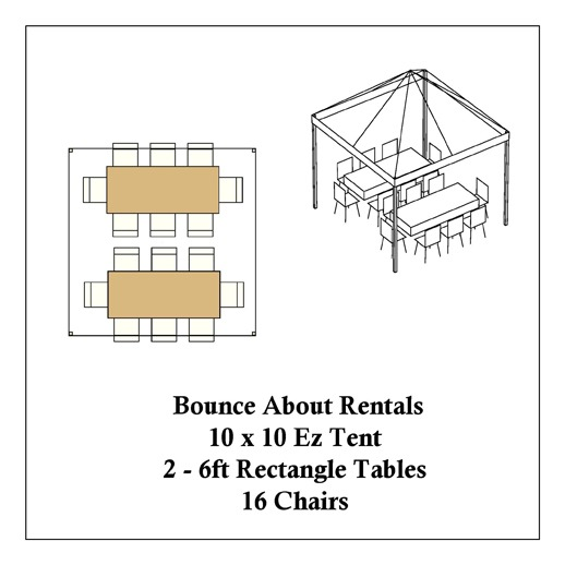 macomb canopy tent rentals 10x10 rectangle tables