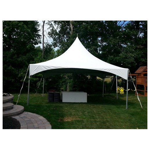 20ft x 20ft High peak frame tent rentals in Michigan