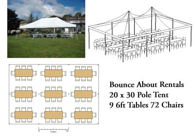 20 x 30 Rectangle Table Layout
