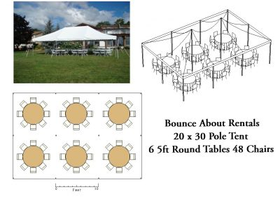 20 x 30 Round Table Layout