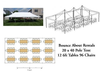 20 x 40 Rectangle Table Layout