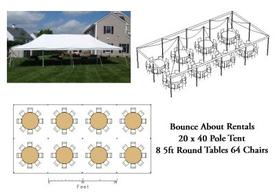 20 x 40 Round Table Layout