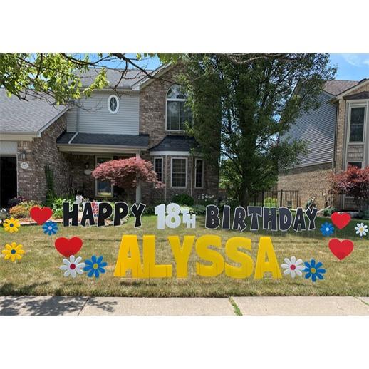 yard greeting macomb birthday